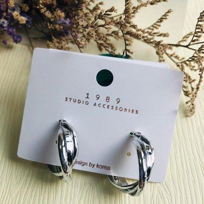 『小倆口』小尺寸C型耳環