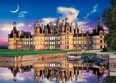 日本進口拼圖 風景 法國 香波爾城堡  2000片夜光迷你絕版拼圖 54-020