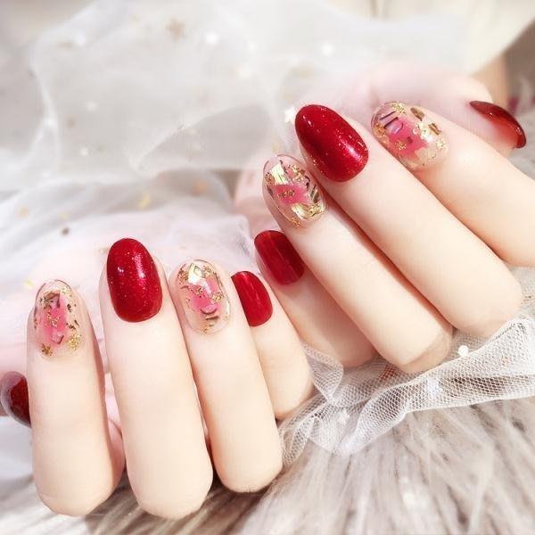 春季上新 指尖魔盒穿戴式美甲甲片成品可摘可戴假指甲貼片隨意拆卸可重復
