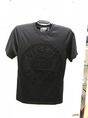 Versus Versace 黑白兩色 植絨 獅子頭 圖案 圓領T恤 全新正品 男裝 歐洲精品