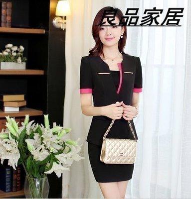 【優上精品】K0714-夏裝短袖職業套裝女裝美容院工作服職業裝女職業裝(Z-P3182)