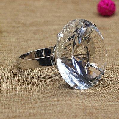 80mm求婚水晶大鑽戒贈精美紅色木製收...