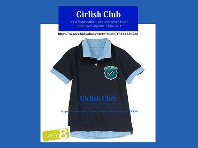 【Girlish Club】crazy 8男童polo衫上衣T恤6T(233)rl gap next二九一元起標