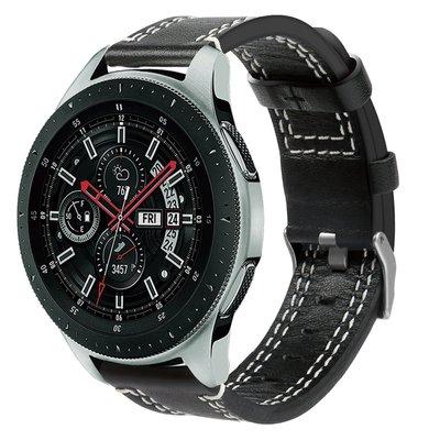 Galaxy Watch 46mm 磨砂 真皮 錶带