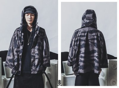 美國東村【SLIGHTLY NUMB】DOUBLE DUTCH RAIN COAT 迷彩 雨衣 外套
