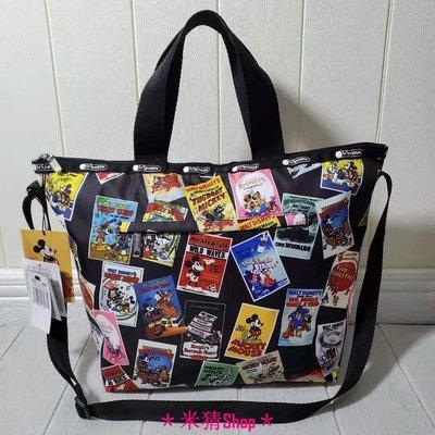 *米猜Shop*LeSportsac x Disney 米奇海報 2431/4360 手提包 托特包 肩背/側背/斜背包