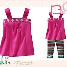 【B& G童裝】正品美國進口GAP刺繡圖樣桃紅色背心上衣18-24mos,2yrs