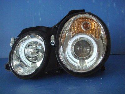 小亞車燈╠ 全新超炫BENZ CLK W208 晶鑽光圈魚眼大燈W209 W210
