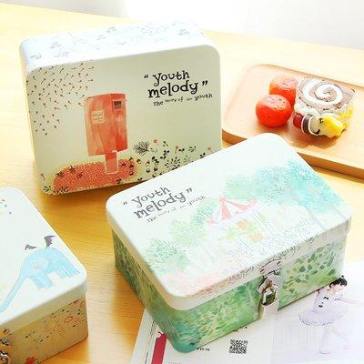 【TT】鉛筆盒 文具 帶鎖桌面收納盒 馬口鐵盒子
