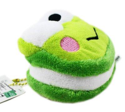【卡漫迷】 大眼蛙 馬卡龍 吊飾 ㊣版 迷你 絨毛 玩偶 裝飾品 鑰匙圈 掛飾 娃娃 Keroppi 可洛比 珠鍊 青蛙