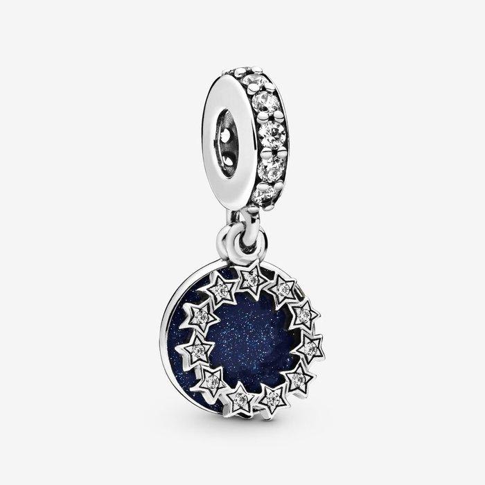 💝【Pandora 潘朵拉】繁星鼓舞吊飾 藍色 情人節禮物 925銀 798433C01