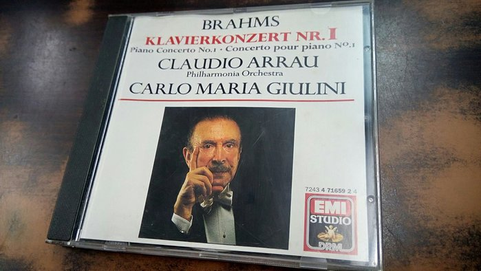 好音悅 Arrau 阿勞 Giulini 朱里尼 Brahms 布拉姆斯 第一號鋼琴協奏曲 愛樂管弦樂團 EMI