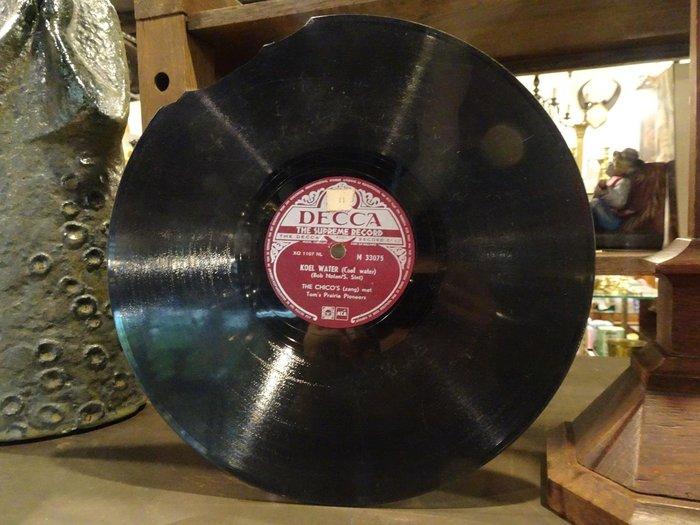 【卡卡頌 歐洲跳蚤市場/歐洲古董】荷蘭DECCA_Tom's Prairie Pioneers十吋78轉西洋老歌黑膠唱片