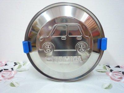 花見雜貨~台灣限定全新正版tomica工程車圓形304不鏽鋼便當盒 台灣製