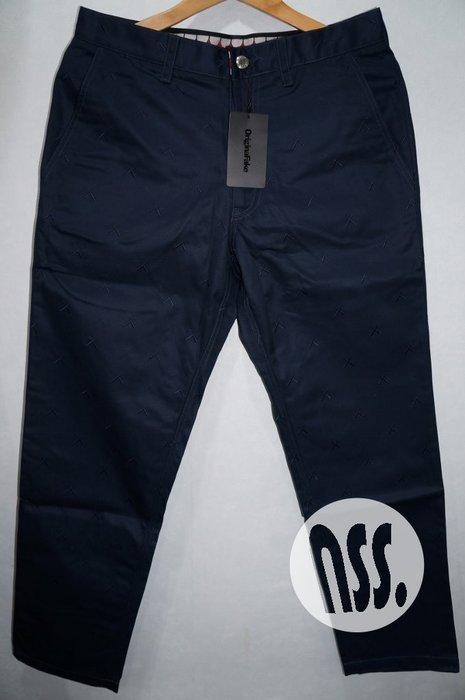 「NSS』Original Fake X Emb Twill KAWS 休閒褲 工作褲 藍 M