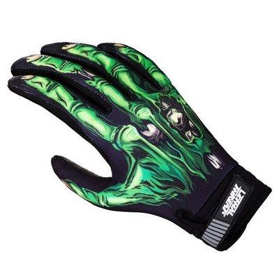 【德國Louis】Lethal Threat摩托車手套 黑綠配色 高彈性材質重型機車重機重車腳踏車自行車適用201482