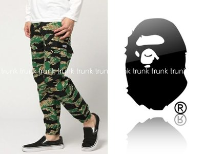 A BATHING APE 6 POCKET JOGGER PANTS 虎紋迷彩口袋工作褲