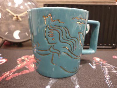 現貨星巴克蒂芬妮藍復古美人魚馬克杯