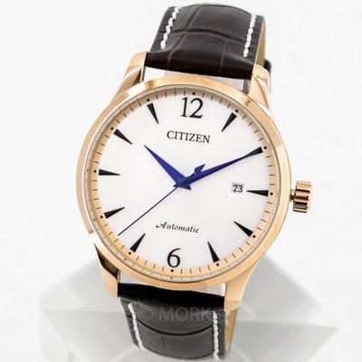 現貨 可自取 CITIZEN NJ0113-10A 星辰錶 手錶 機械錶 40mm 玫瑰金 咖啡色皮錶帶 男錶女錶