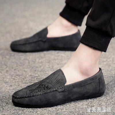 豆豆鞋 秋一腳蹬懶人男鞋子韓版潮流百搭社會潮鞋 BF14077