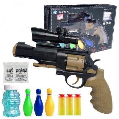 【炙哥】左輪 手動水彈槍 槓桿原理上膛 NERF 二用槍 手槍 全台獨賣 生存遊戲 CS 露營 玩具 團對 兒童