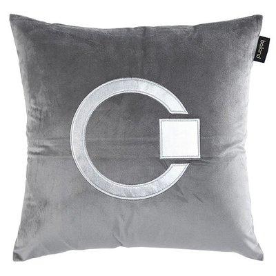 抱枕套 布藝 沙發抱枕套 靠墊0366絲絨皮革繡花北歐樣板房腰枕抱枕沙發靠墊抱枕