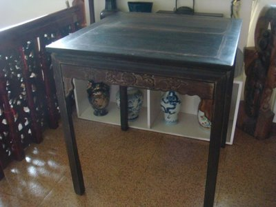 早期實木雞翅木方形桌(78x78x87cm)泡茶桌.餐桌.