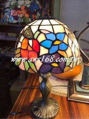 蒂芬妮桌燈 鄉村彩繪玻璃小桌燈 檯燈 ...