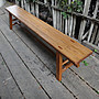 B040{崙頂傳統原木家具行}~ 杉木長大板凳9.5...