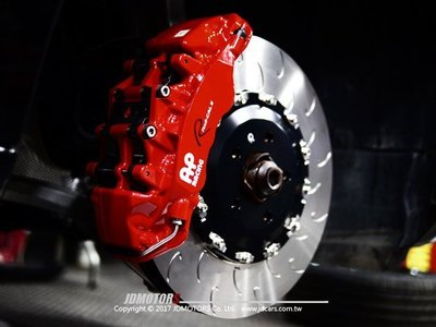 JD-MOTORS AP9560 六活塞卡鉗 搭配AP原裝外盤 380mm / 390mm AUDI A4實裝