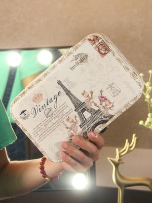 點點集首飾盒皮革公主歐式飾品盒手飾簡約耳環耳釘戒指首飾收納盒CY