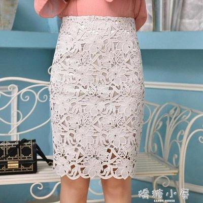 蕾絲半身裙夏女新款中長款顯瘦ins超火的高腰包臀裙一步裙女