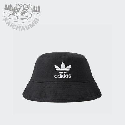 凱喬美|ADIDAS 愛迪達 ORIGINALS ADICOLOR 漁夫帽 AJ8995 公司貨 電繡 斜紋 帆布 黑