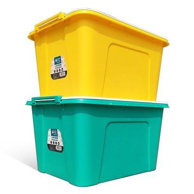 收納箱茶花68L塑料收納箱衣服玩具箱子兒童大號收納盒雜物書整理儲物箱 台北市
