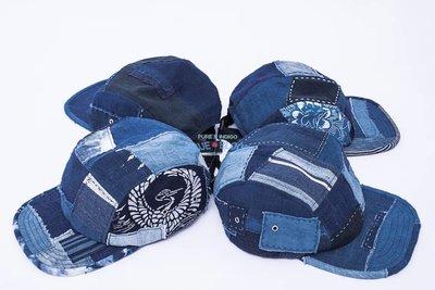 BLUE BLOOD BORO CAMP CAP 天然藍染五分割帽 露營帽 古布藍染 可調式帽帶