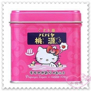 ♥小公主日本精品♥ Papaya Togen x Hello Kitty 品牌合作 泡澡劑 日本限定 999411802