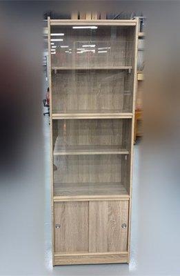 【台北二手家具】二手家具推薦泰山宏品 EA226-7AG*全新玻璃門書櫃* 書架/酒櫃/展示櫃/玻璃櫃/櫥櫃家具家電買賣