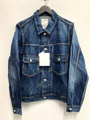 VISVIM 2019 19AW 101 DRY JKT DAMAGED 藍色 牛仔外套 3號