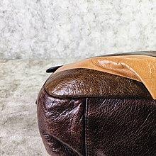 【哈極品】二手品《ANNA SUI 深咖卡其三拼色 全皮 手提包肩背包》