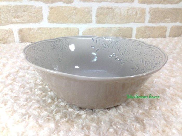 點點蘑菇屋 義大利WALD經典立體雕花大地色系列手繪高溫陶瓷(駝色)沙拉碗 小碗公 湯碗 陶瓷碗 現貨