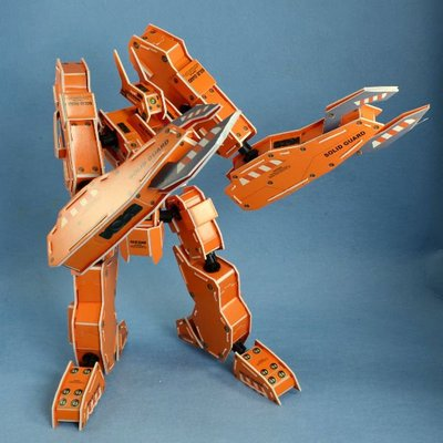 佳廷家庭 親子DIY紙模型立體勞作3D立體拼圖專賣店 機器人裝甲獸 金牛座 關節可動 麥克羅伯