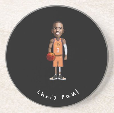 NBA陶瓷杯墊4件組(任選四個)-Chris Paul 保羅船長職業生涯各隊造型 太陽 快艇 黃蜂 雷霆 火箭