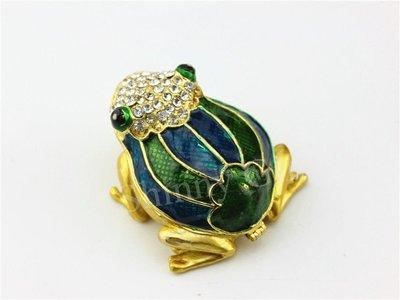 家居雜貨精品店外銷出口青蛙裝飾盒 時尚家居飾品小擺件Frog Trinket Box 擺件