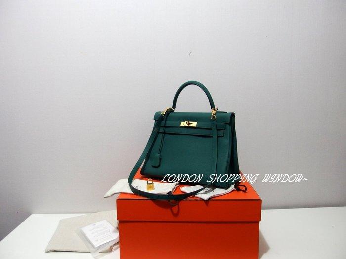 美美的 HERMES Kelly 32 手提包 側背包 *倫敦櫥窗*