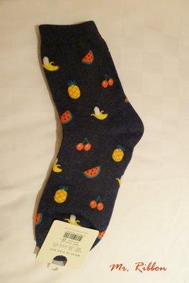 Mr. Ribbon 蝴蝶結先生 韓國空運  短襪  盛夏都是水果款
