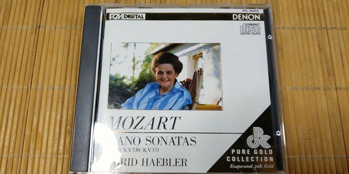 好音悅 24K PURE GOLD CD Haebler Mozart 莫札特 鋼琴奏鳴曲 DENON 日版 無IFPI