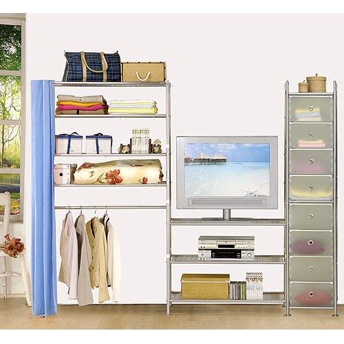 【中華批發網DIY家具】D-64-24-W4型90+90+pp電視衣櫥置物櫃-(前罩)不織布