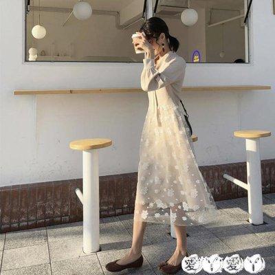 連身裙 很仙的法國小眾連身裙女春秋法式復古山本過膝超仙夏春裝