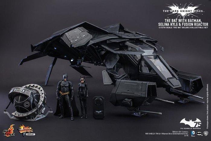 【日販】HOT TOYS MMSC002 黑暗騎士 黎明昇起~蝙蝠戰機 豪華組 含貓女及核炸彈~野獸國代理版現貨