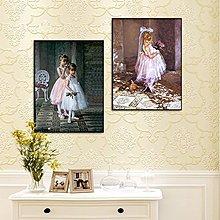 蝴蝶女孩壁畫客廳裝飾畫現代簡約臥室掛畫沙發背景牆畫無框畫餐廳(2款可選)